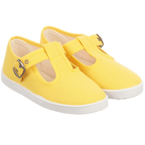 KIKU Yellow Canvas Shoes