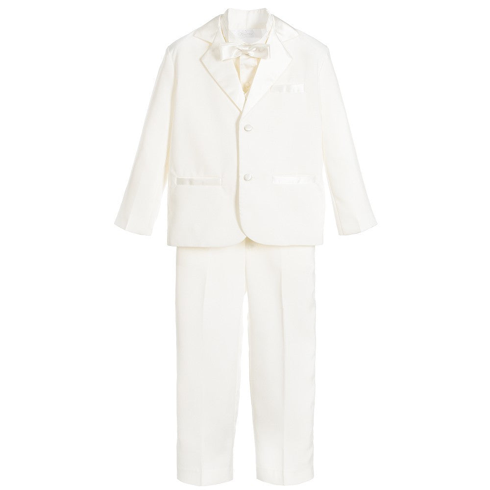 Boys Ivory 5 Piece Special Occasion Tuxedo Suit - Salon3o, Kooperativa GO-RE z.b.o., Tupaliče 15, 4205 Preddvor,Slovenia,Europe.All rights reserved.