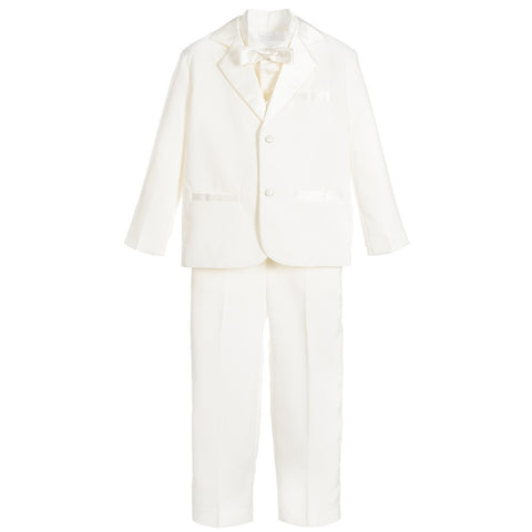 Boys Ivory 5 Piece Special Occasion Tuxedo Suit