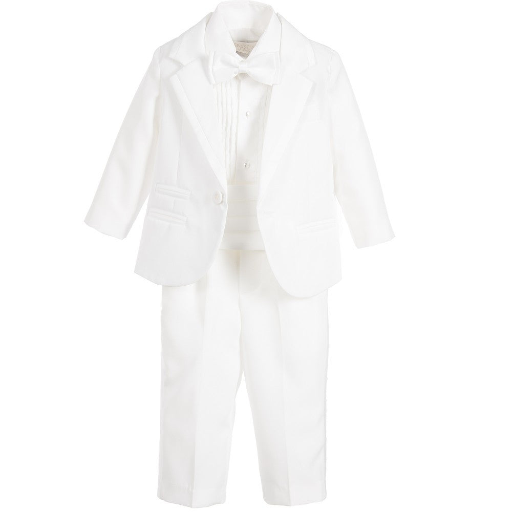Boys Ivory 5 Piece Tuxedo Suit - Salon3o, Kooperativa GO-RE z.b.o., Tupaliče 15, 4205 Preddvor,Slovenia,Europe.All rights reserved.