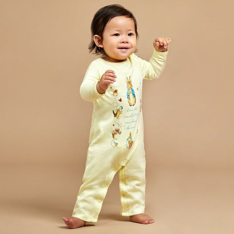 PETER RABBIT™ BY SALON3O Yellow Cotton Babygrow