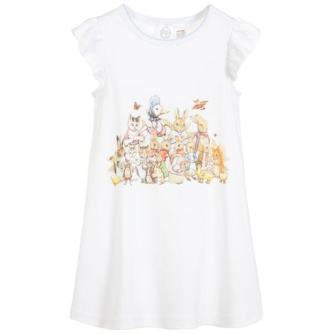 PETER RABBIT™ BY SALON3O Girls White Cotton Nightdress