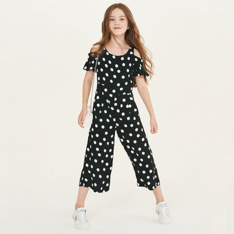 Elsy Girls Polka Dot Jumpsuit