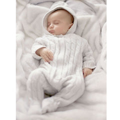THE LITTLE TAILOR Ivory Cotton Cashmere Knitted Pramsuit - Salon3o, Kooperativa GO-RE z.b.o., Tupaliče 15, 4205 Preddvor,Slovenia,Europe.All rights reserved.