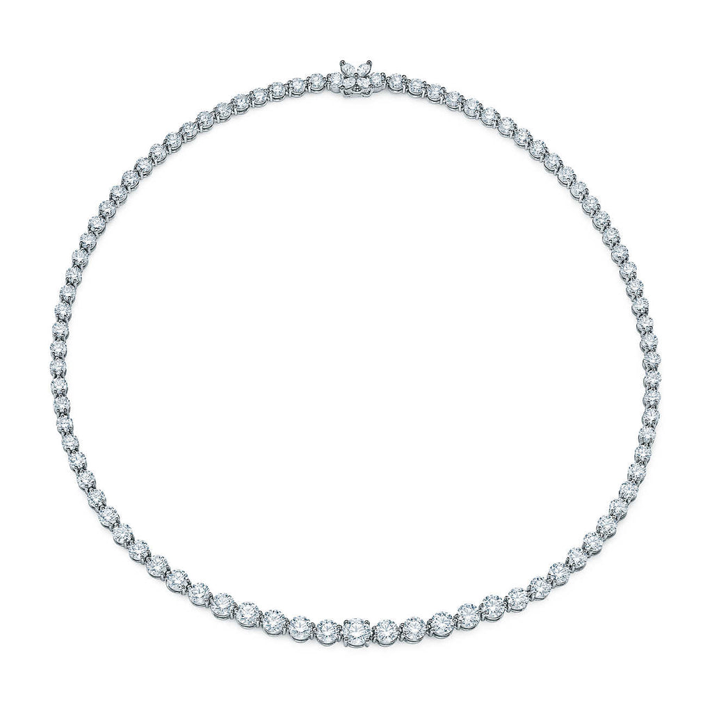 Tiffany Victoria® Diamond Line Necklace in Platinum
