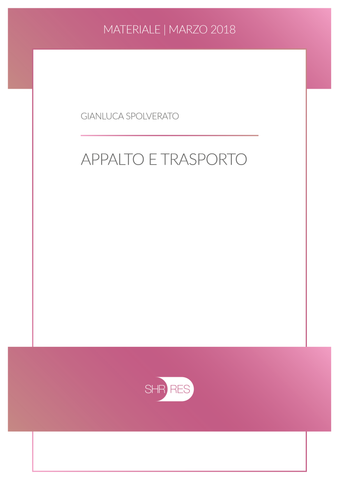 APPALTI E TRASPORTO - materiale 03/2018