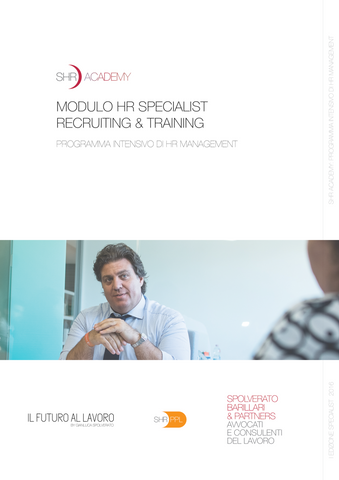 MODULO SPECIALIST HR RECRUITING & TRAINING | PROGRAMMA INTENSIVO DI HR MANAGEMENT