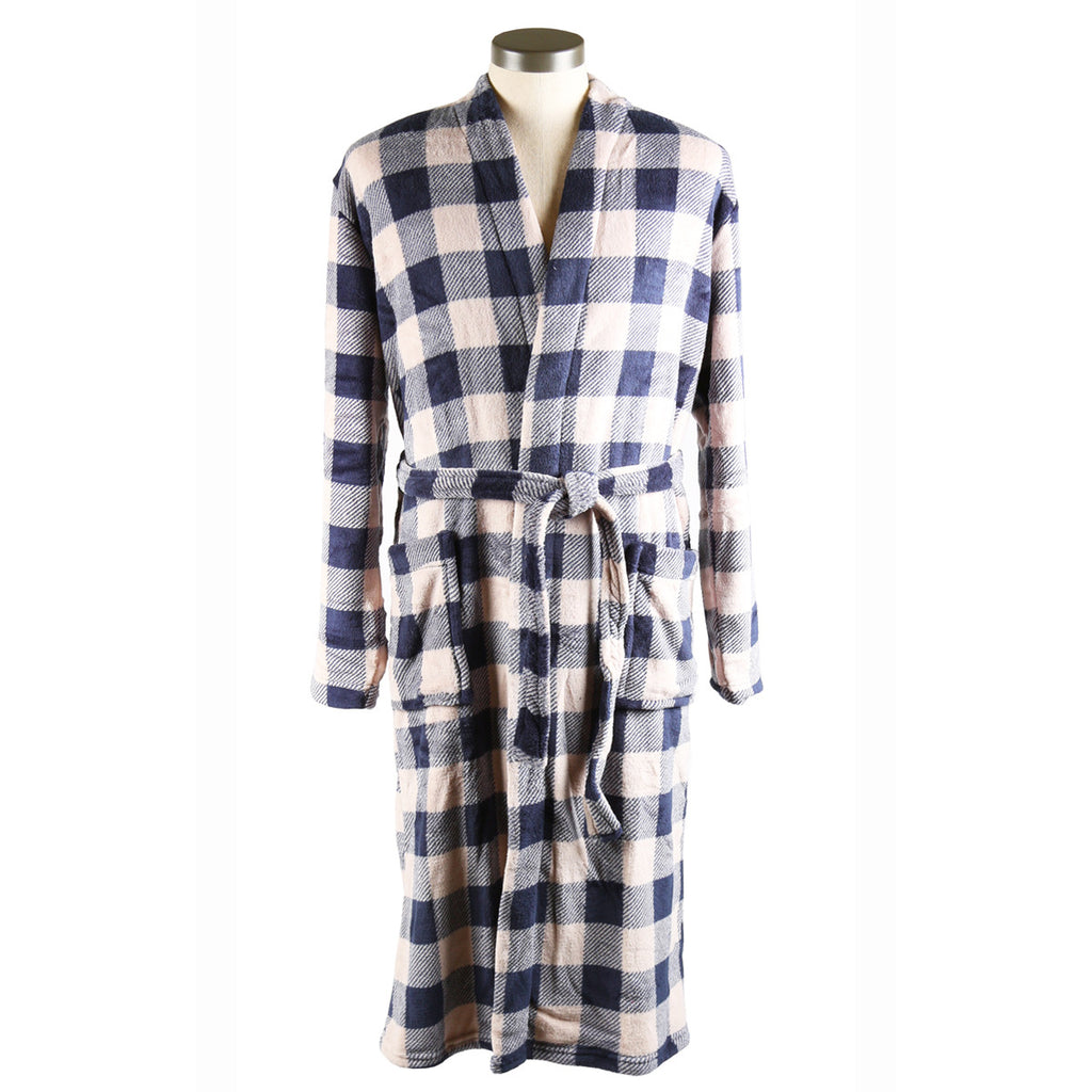 Robe de chambre hommes / Men's Bathrobe  - Navy Mix