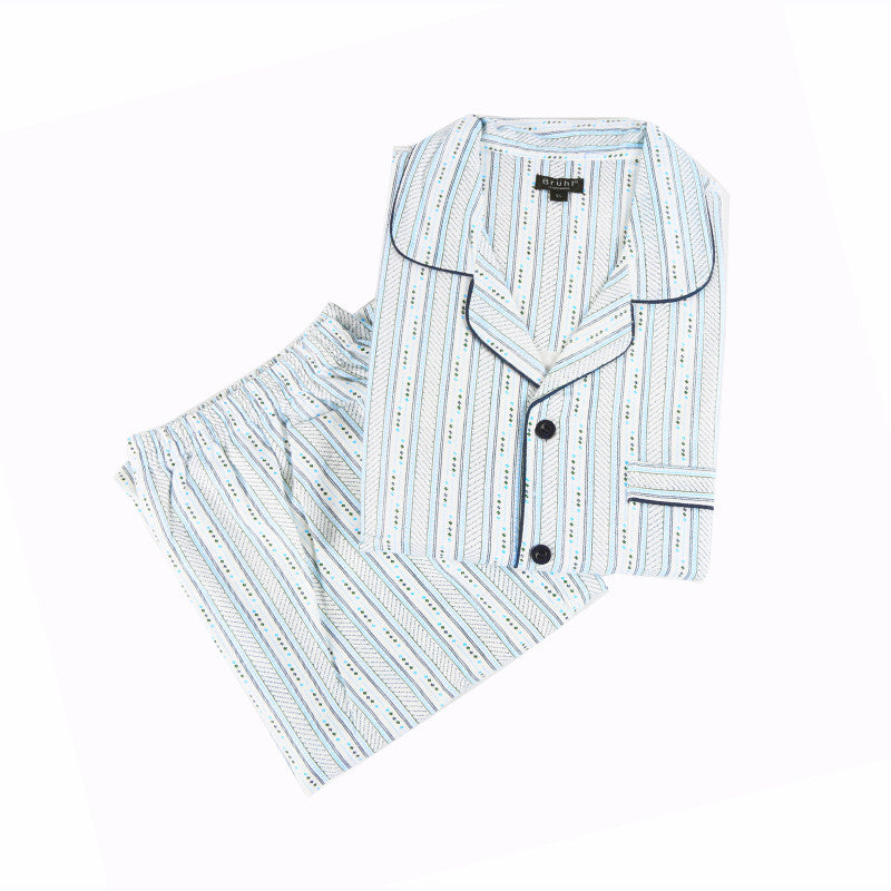 Men's Flannel Pyjama - Baby Blue