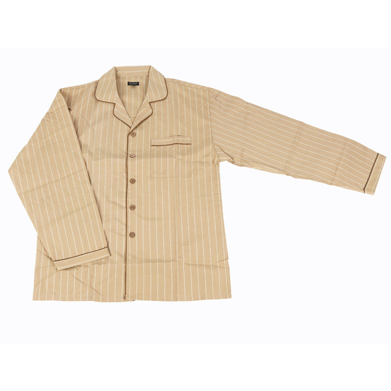Men's Poly Cotton Pyjama - Sand Beige
