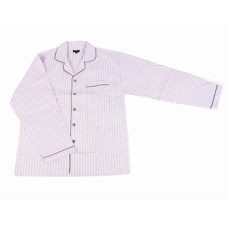 Men's Poly Cotton Pyjama - Light Pink