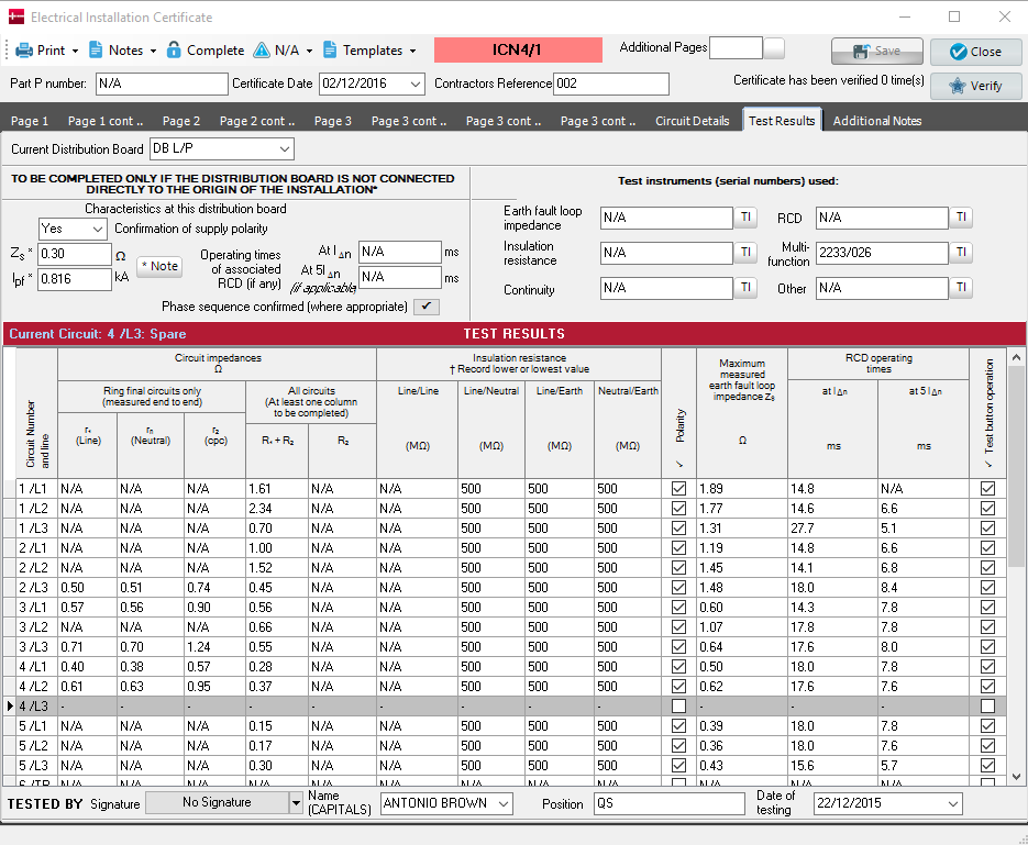 Electrical Certification Software Niceic Certification Software