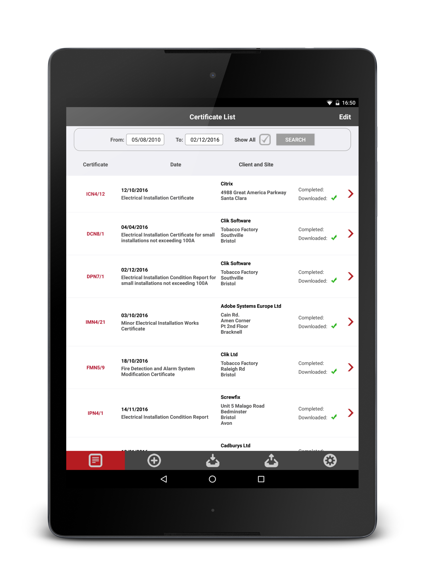Android app for electrical certificates niceic certificate niceic certification software how it works xflitez Image collections