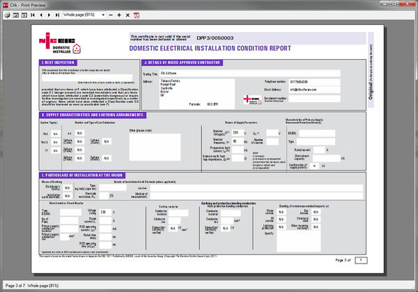 Electrical certification software niceic certification - Dive jump reporting system ...