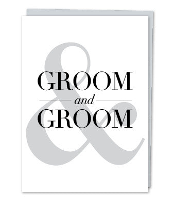 Groom and Groom, by Design with Heart