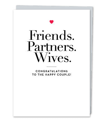 Friends. Partners. Wives, by Design with Heart