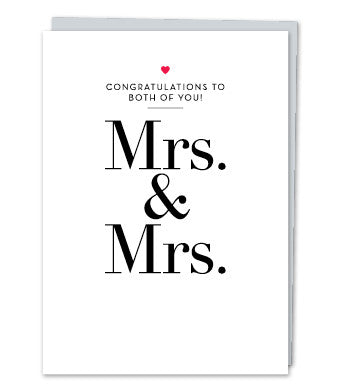 Mrs. & Mrs., by Design with Heart