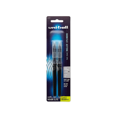 uni-ball Vision Elite Rollerball Pen Refills, Bold Point 2 Count