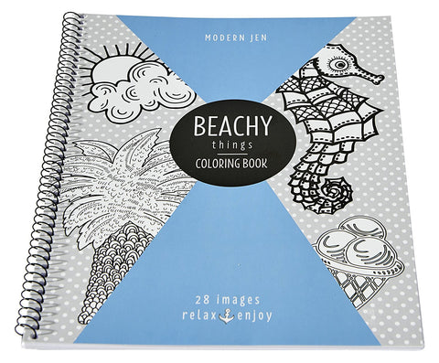 "Modern Jen Roaring Spring Coloring Book, 11"" x 8.5"", 28 Sheets"