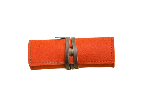 Robert Mason Wool + Leather Cord Wrap