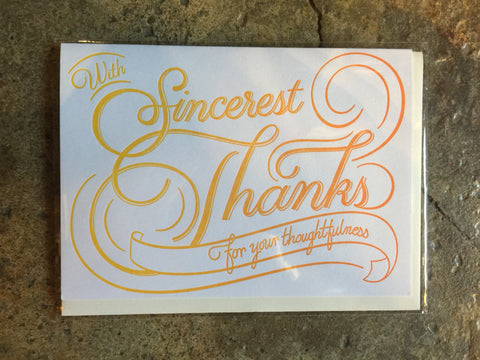 Flourish Thanks by Igloo Letterpress