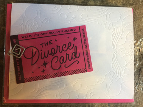 The New Divorce Card by Igloo Letterpress