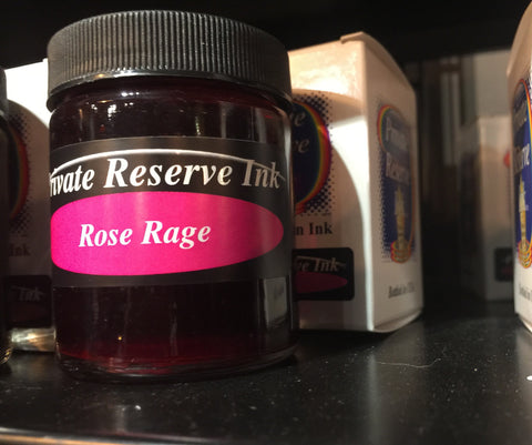 Rose Rage 66 ml Bottle Fountain Pen Ink by Private Reserve Ink