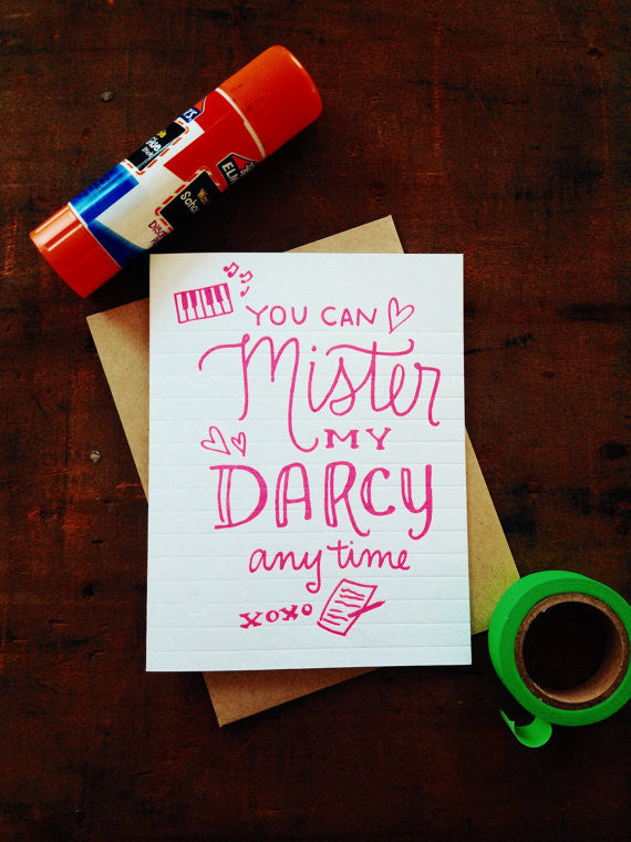 Mister My Darcy by Igloo Letterpress