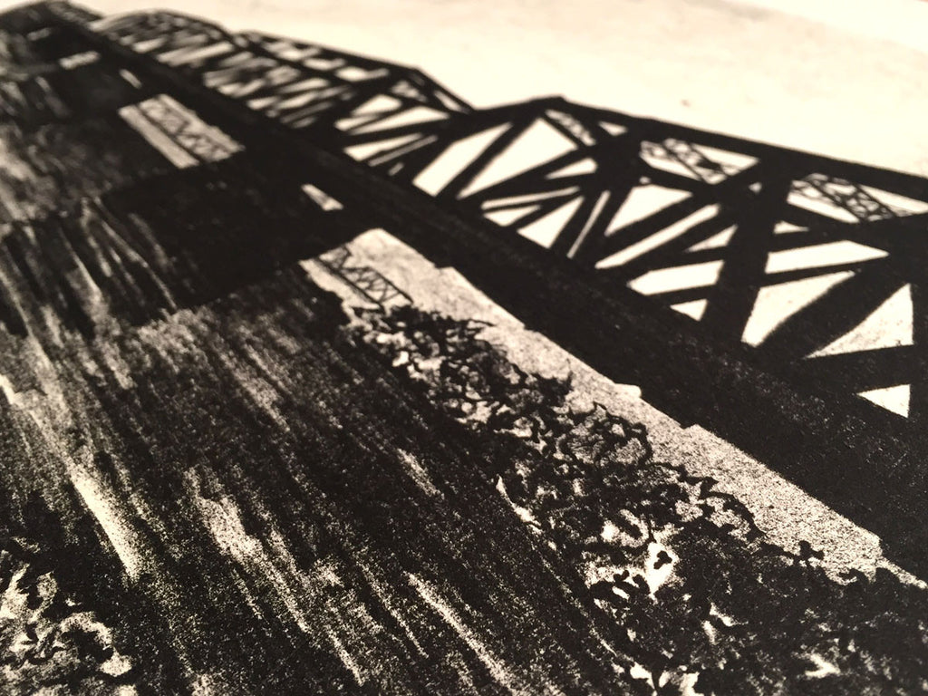 Railway 2012 print from artist Leah Storrs