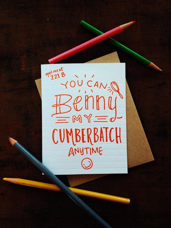 Benny My Cumberbatch Card by Igloo Letterpress