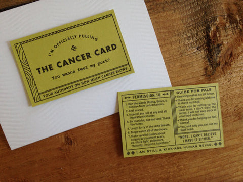The Cancer Card by Igloo Letterpress