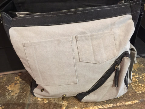 RM Canvas Map Case Messenger Bag Grey