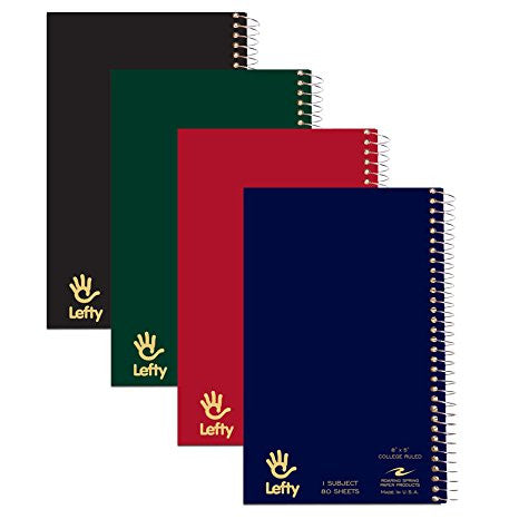 "Lefty 1 Subject 8"" x 5"" Notebook by Roaring Springs"