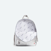 metallic silver bookbags