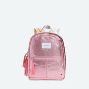 pink metallic backpack