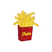French fry patch for backpacks