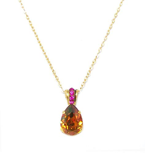 "Mariana ""Daphne Yellow Gold Plated Swarovski Crystal Teardrop Pendant Necklace - 5312 1330"