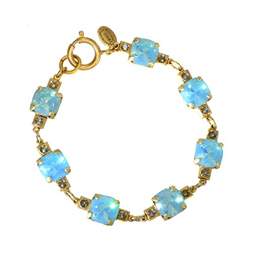 Catherine Popesco Pacific Blue Austrian Crystals Bracelet