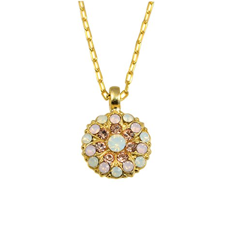 Mariana Yellow Gold Plated Guardian Angel Swarovski Crystal Pendant Necklace (Tiara Day) - 5212 2333