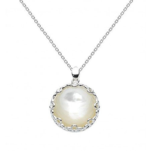 "Kit Heath ""Elegance"" Sterling Silver Mother of Pearl Pendant Necklace, 18"""