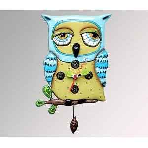 Blue Whimsical Pendulum Wall Clock