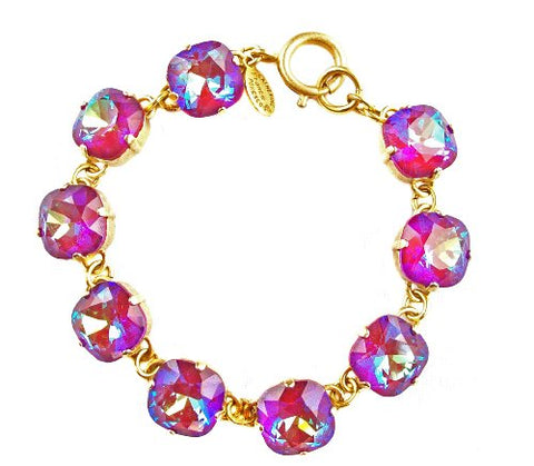 Finest Austrian Crystals Purple Bracelet