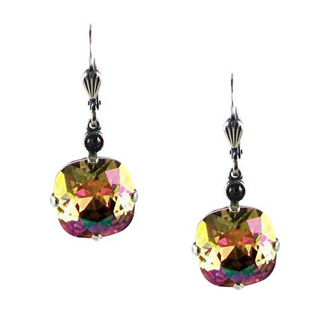 Catherine Popesco Crystal Square Cut Purple Haze Drop Earrings