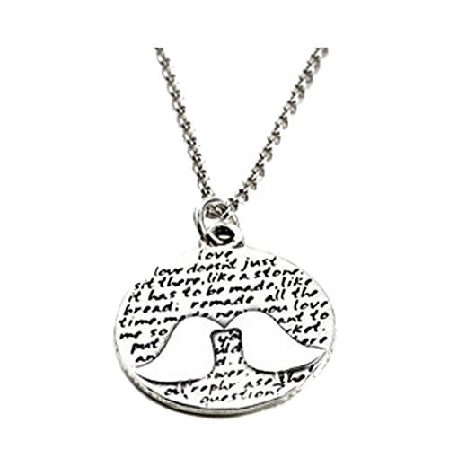 "Kevin N Anna Sterling Silver LARGE Etched ""Kissing Birds"" Pendant Necklace (Celebrates LOVE), 18"""