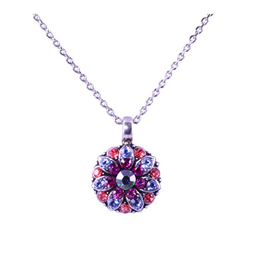 "Mariana ""Joy Collection Antique Silver Plated Guardian Swarovski Crystal Pendant Necklace, 16"""