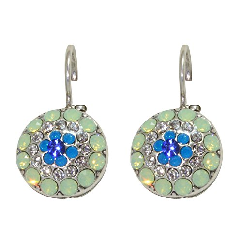 Mariana Antique Silver Plated Swarovski Crystal Drop Earrings (Zhang) - 1141 1041