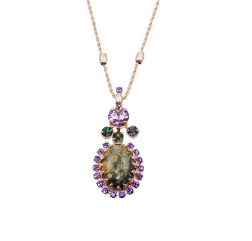 "Mariana ""Audrey' Rose Gold Plated Swarovski Crystal Pendant Necklace - 5008/4 M1021"
