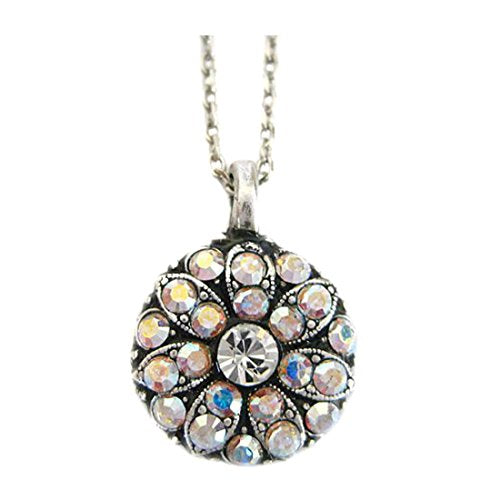 Mariana Antique Silver Plated Guardian Angel Swarovski Crystal Pendant Neckla...