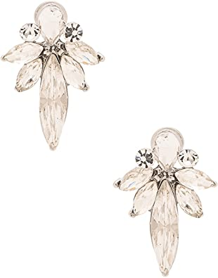 Rhodium Plated Shooting Star Crystal Drop Earring