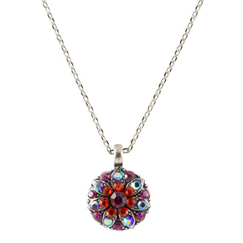 Mariana Antique Silver Plated Guardian Angel Swarovski Crystal Pendant Necklace, 16""